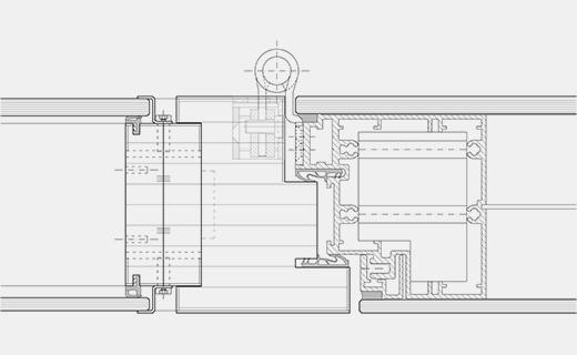 Türanschluss detail außentür  Türsystem Structural-Glazing-Tür / Strähle Raum-Systeme